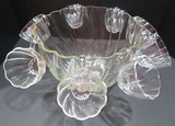 Glass Punch bowl and 8 cups