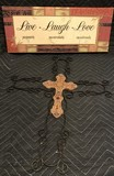 Canvas Picture and Metal Cross