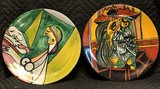 Handpainted Abstract Art Decorative Plates