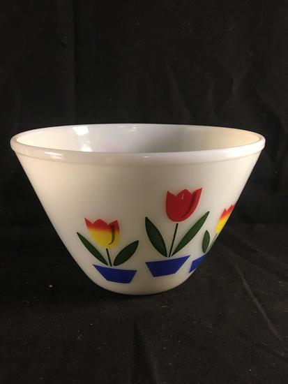Large Fire King Tulip Bowl