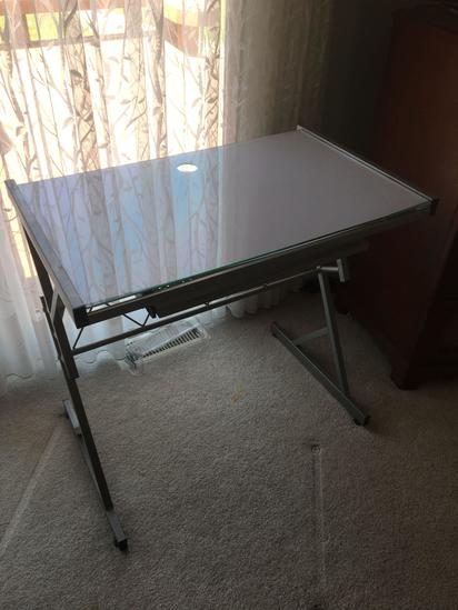 Glass Top Craft Table