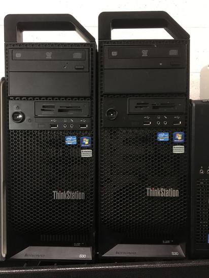 Eight Assorted Dell/HP Computer Towers