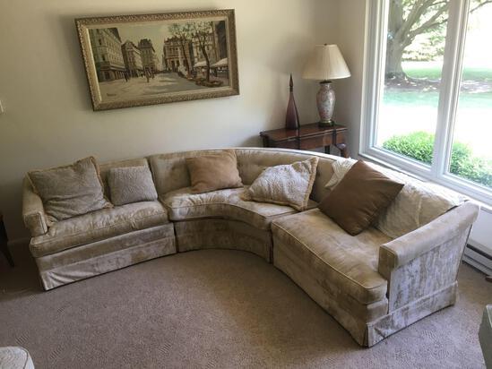 Mid Century Modern Half Moon Couch