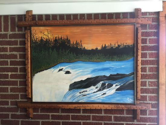 Solid Wood Framed Painting