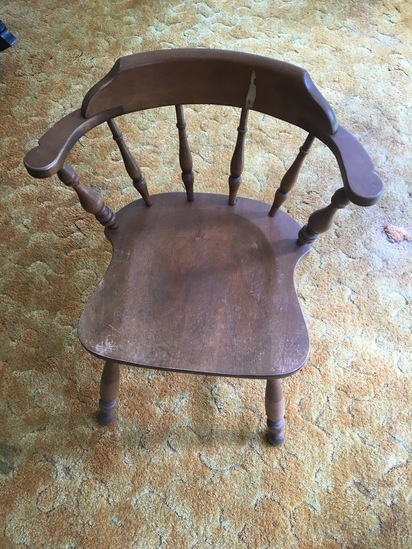 Solid Wood Barrel Chair