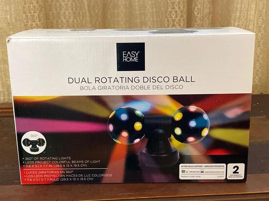 New In Box Dual Rotating Disco Ball