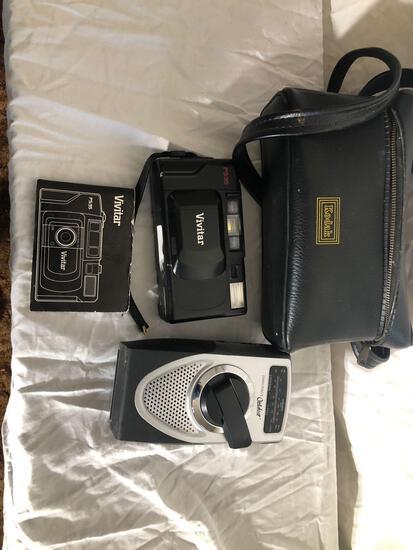 Vintage Kodak Camera Case With Camera And Port Radio