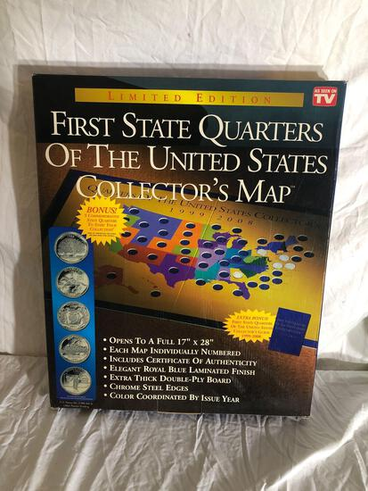 State Quarters Collectors Map