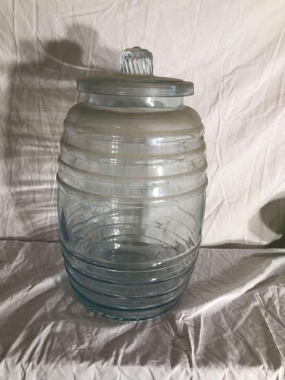 Large Mid Century Glass Jar