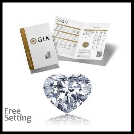 3.01 ct, Color D/VS2, Heart cut Diamond