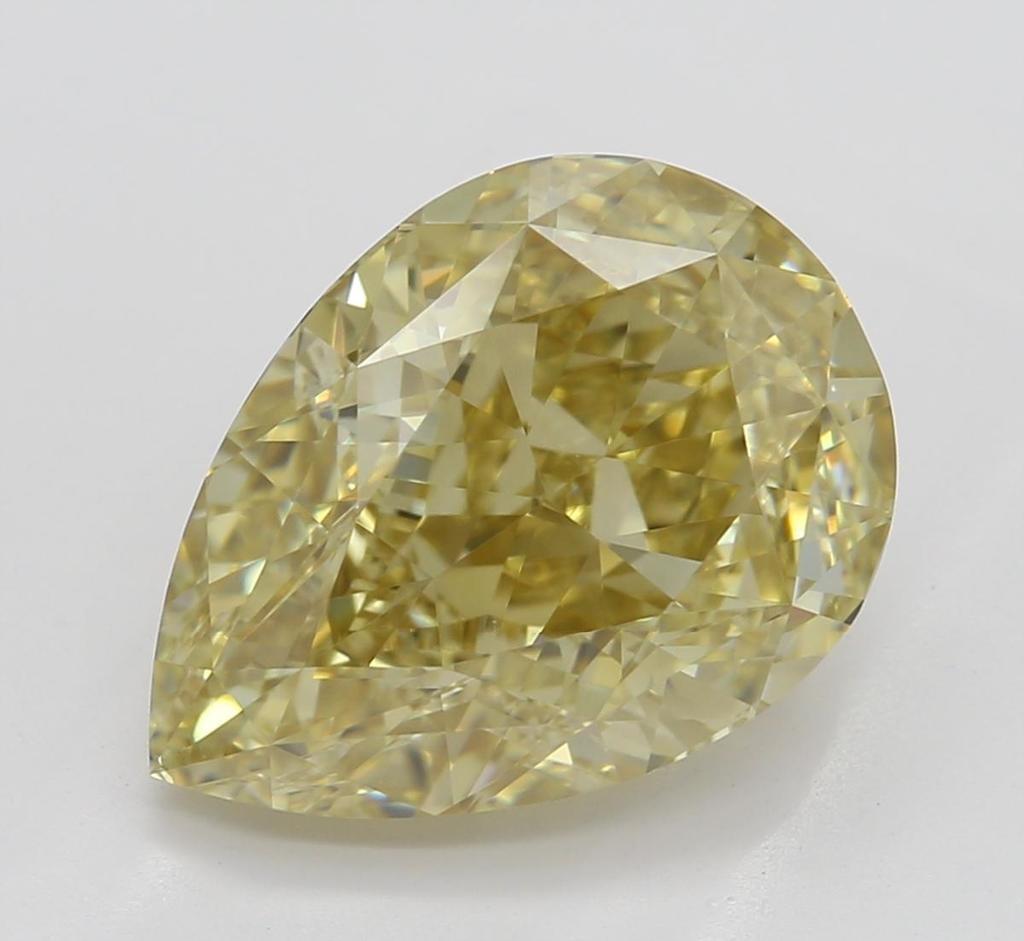 3.02 ct, Brown Yellow/VVS2, Pear cut Diamond