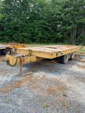 8ft x 20ft T/A Tag Equipment Trailer