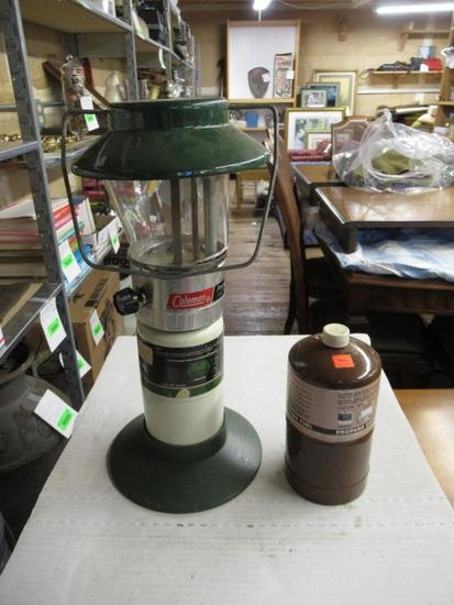 Vintage Propane Lantern and Bottle of Propane