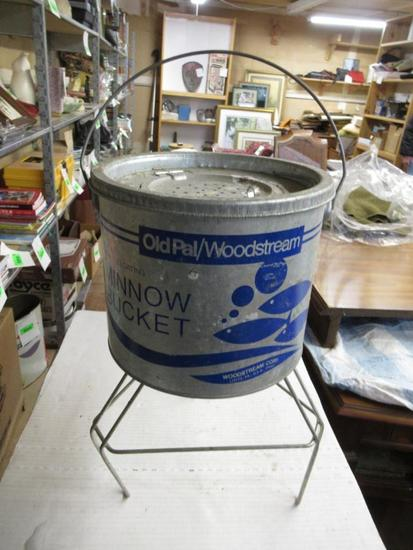Minnow Bucket - Old Pal Woodstream Vintage Non-Floating 8gal