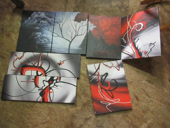 Art - Assorted Pieces Red and Black Theme NO SHIPPING