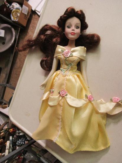 """Disney Porcelain Doll - Belle 14"""" tall"""