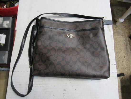 New brown/black coach purse