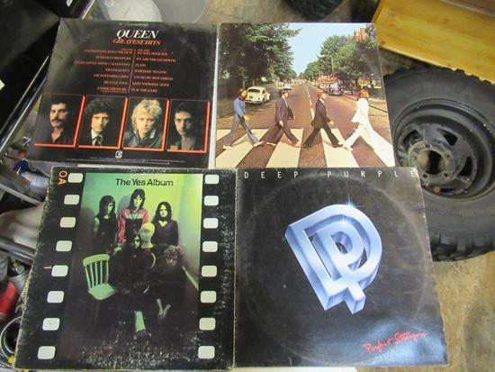 Classic rock vinyl records