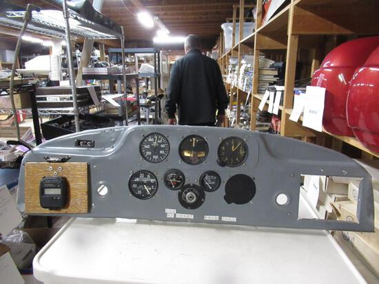 Airplane Dash Panel w/ Gauges . SPECIAL SHIPPING REQUIREMENTS
