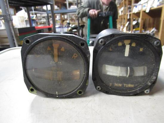 2 Aircraft Bank Gauges