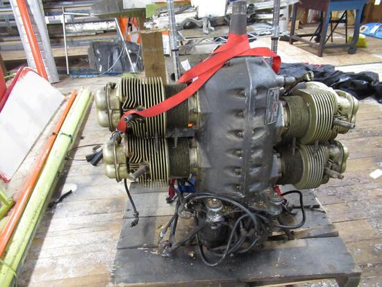 Continental Aircraft Engine Model A65-8 Serial No 61173-8-8 Rated HP65 w/ Log Book. SPECIAL SHIPPING