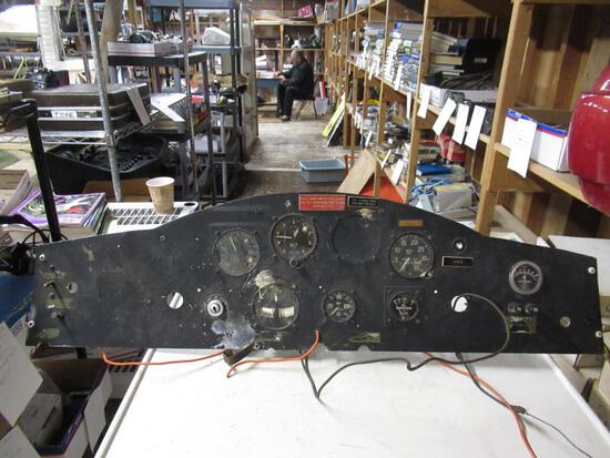 Airplane Dash Panel w/ Gauges. SPECIAL SHIPPING REQUIREMENTS