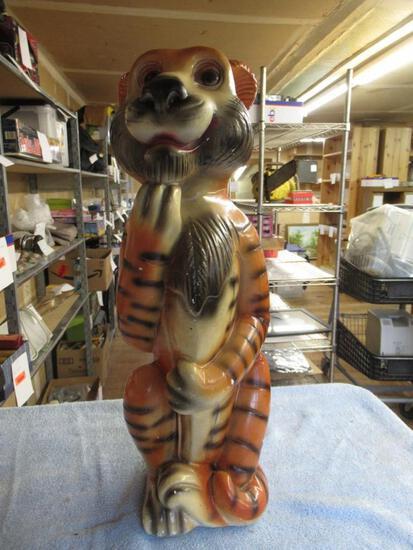 """Chalkware Tiger Bank 19"""" tall No Plug. NO SHIPPING"""