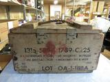 Vintage Wood Ammo Box for Cannon. NO SHIPPING
