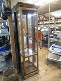 Curio Cabinet (no shelves) 71x20x12. NO SHIPPING