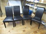 4 Leather Chairs. NO SHIPPING
