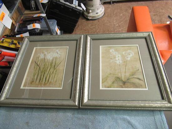 Framed Paintings Set of 2 14x16