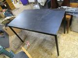Table - Wood Top w/ Metal Legs 46wx23lx29t NO SHIPPING