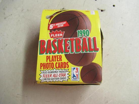Full Box of Sealed 1990 Flyer Basketball Wax Packs