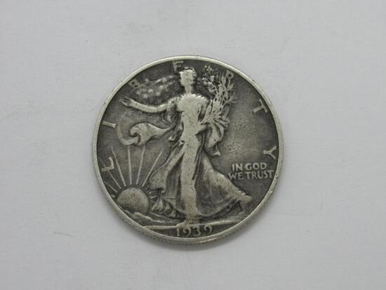 1939 Walking Liberty Silver Half Dollar