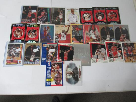 Lot of 25 Michael Jordan NBA Basketball Cards