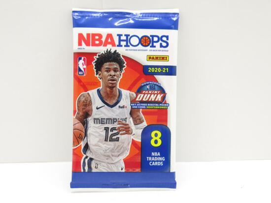 Factory Sealed 2020-21 NBA Hoops 8 Basketball Card Pack