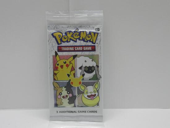 Factory Sealed Pokemon 25th Anniversary GENERAL MILLS 3 Card Booster Pack