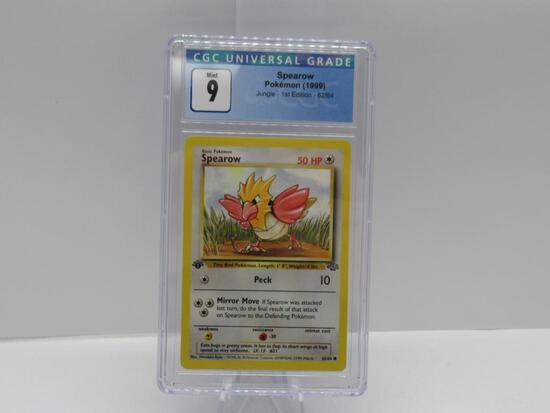 CGC Mint 9 - Jungle 1st Edition Pokemon Card - Spearow 62/64