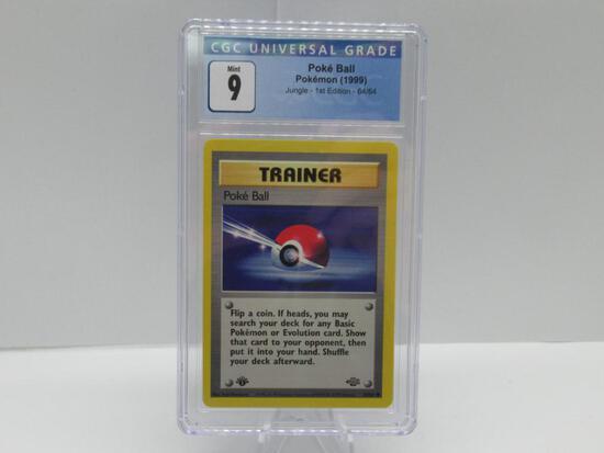 CGC Mint 9 - Jungle 1st Edition Pokemon Card - Poke Ball 64/64
