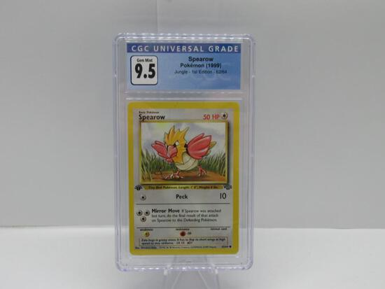 CGC Gem Mint 9.5 - Jungle 1st Edition Pokemon Card - Spearow 62/64