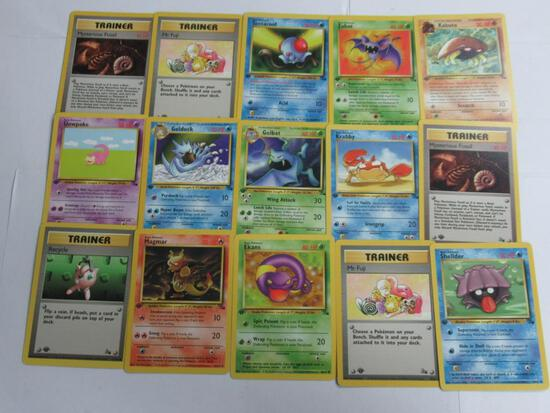 15 Count Lot of ALL 1st Edition VINTAGE Pokemon Cards