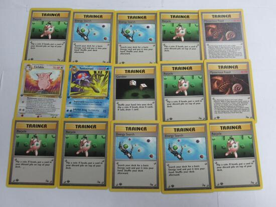 Lot of 15 ALL 1st Edition VINTAGE Pokemon Trading Cards