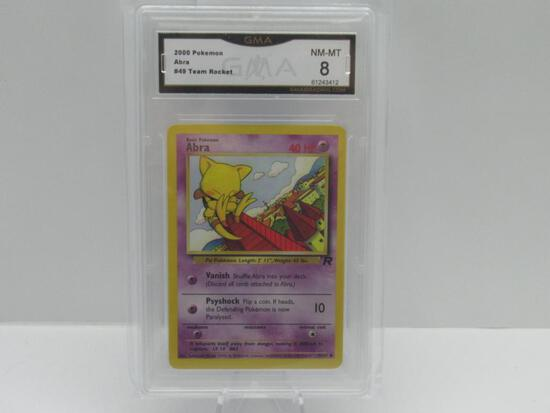 GMA GRADED 2000 POKEMON TEAM ROCKET ABRA #49 - NM MT 8