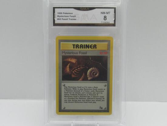 GMA GRADED 1999 POKEMON FOSSIL TRAINER MYSTERIOUS FOSSIL #62 - NM MT 8