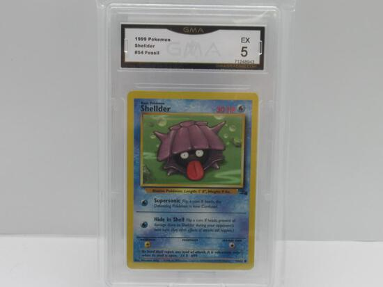 GMA GRADED 1999 POKEMON FOSSIL SHELLDER #54 - EX 5