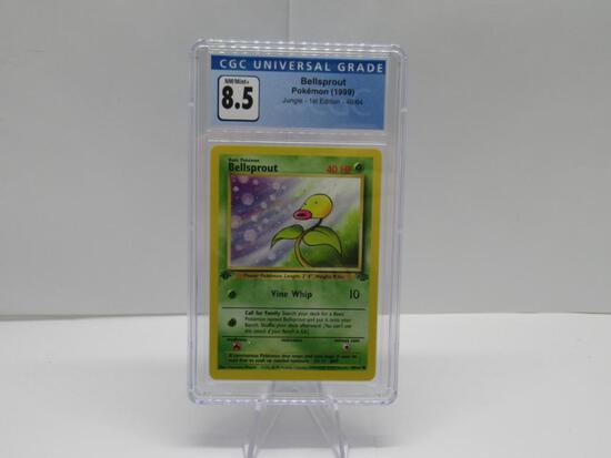 CGC NM/MINT+ 8.5 - Jungle 1st Edition Pokemon Card - Bellsprout 49/64