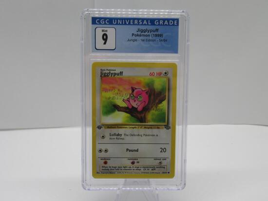 CGC MINT 9 - Jungle 1st Edition Pokemon Card - Jigglypuff 54/64