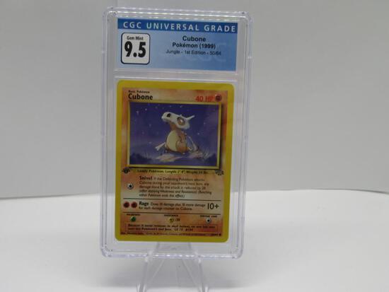 CGC GEM MINT 9.5 - Jungle 1st Edition Pokemon Card - Cubone 50/64