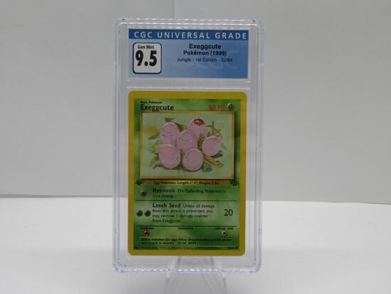 CGC GEM MINT 9.5 - Jungle 1st Edition Pokemon Card - Exeggcute 52/64