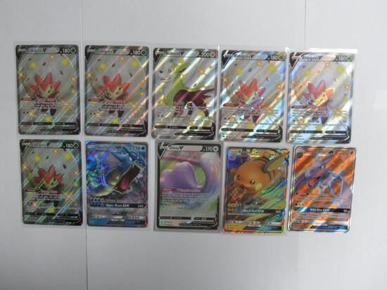 Huge Lot of Reverse Holo & Holo Rare Pokemon Trading Cards